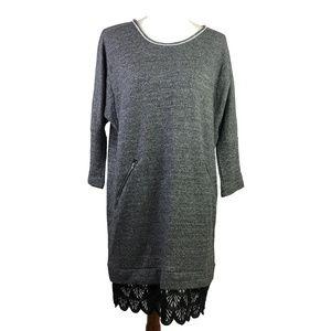 Anthropologie Dolan Sweatshirt Dress w/ Lace